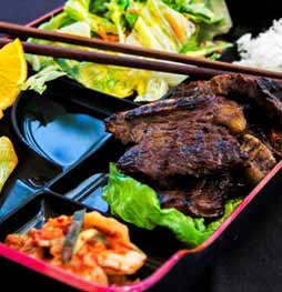 Korean BBQ Galbi Bento